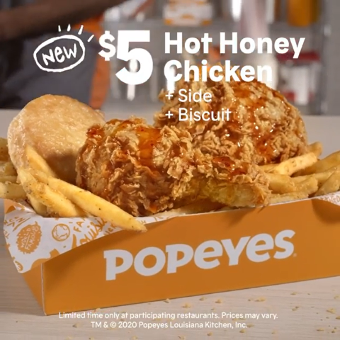Starts at $5Popeyes New Hot Honey Chicken Meals are Here