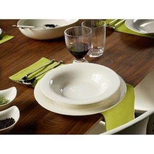 $99.99收New Cottage白瓷餐具18件套Bloomingdales 精选 Villeroy & Boch 德国维宝餐具套装热卖