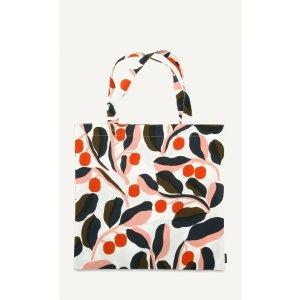 Jaspi cotton tote - white, red, blue - Bags - New - Marimekko.com