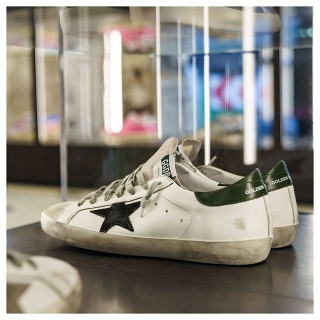 20% Off + Free Shipping $300+ Get Golden GooseEnding Soon: Blue & Cream Golden Goose on Sale