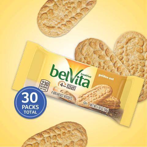 $11.19belVita Golden Oat Breakfast Biscuits 30 Packs