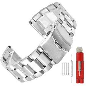 From $16.99SINAIKE Brush Matte Finish Metal Watch Band Stainless Steel Bracelet Straps