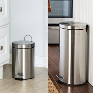 Honey Can Do 30升和3升不锈钢垃圾桶