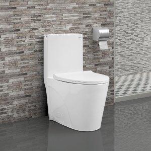 Swiss MadisonSt.Tropez 1-Piece 0.8/1.28 GPF Dual Flush Elongated Toilet in White