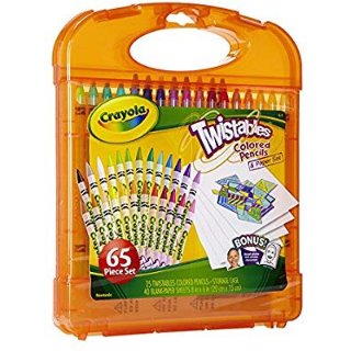 Crayola Twistables Colored Pencils & Paper Set, 65 Pieces Non-Toxic Art Gift for Adults & Kids 4 & Up, Kit Includes Twist-Up Colored Pencils Classic Colors & Paper In A Portable Travel Case @ Amazon