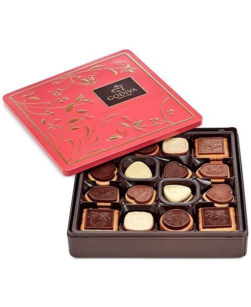 混合口味巧克力饼干礼盒 46块装