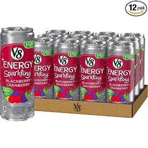 现价$12.57(原价$17.96)V8 +Energy 黑莓蔓越莓能量饮料 12 oz. 12罐