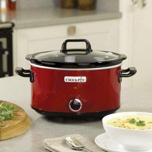 折后€39 原价€64.99 创新石胆Crock-pot 慢煮锅 3.5L 3-4人份 小火慢炖 煮粥煲汤 炖肉焖甜品
