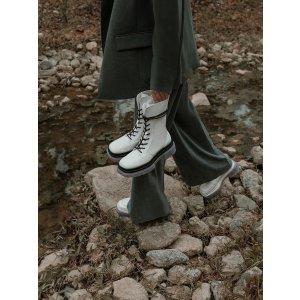 Charles & Keith水晶底鞋带短靴
