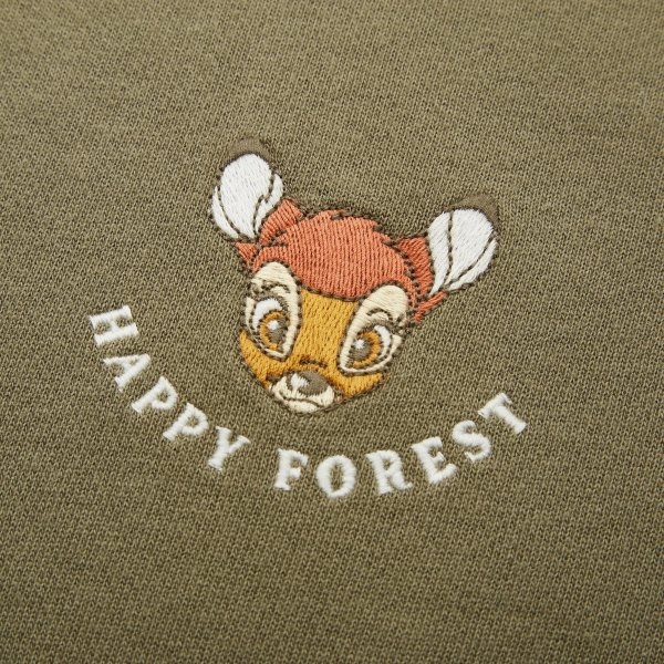 迪士尼小鹿斑比刺绣 卫衣裙