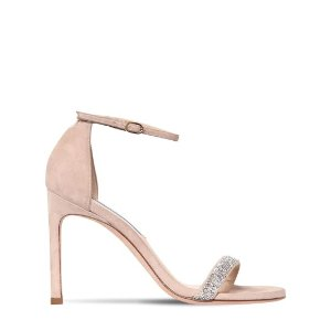 Stuart Weitzman105MM NUDIST SONG SUEDE SANDALS