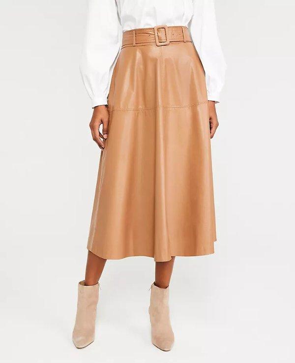 环保皮质半身裙
