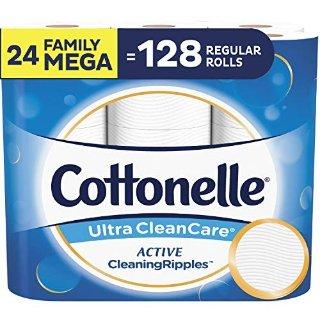 $19.49 多款可选 36超大卷仅$26Cottonelle 超舒适卫生纸 24卷超大家庭卷 相当于128普通卷