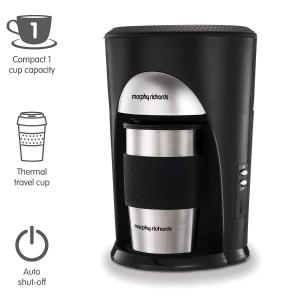 现价£16.49(原价£24.99)Morphy Richard 手动便携咖啡机 懒人喝咖啡必备