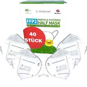 5.2折 平均€0.79/只FFP2口罩 40只仅€31.37 家中常备 保护自己也保护他人
