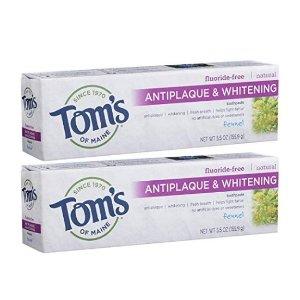 $7.03 (原价$12.37)闪购:Tom's of Maine 预防牙菌斑无氟美白牙膏156g 2支