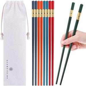 GLAMFIELDS 5 Pairs Fiberglass Chopsticks