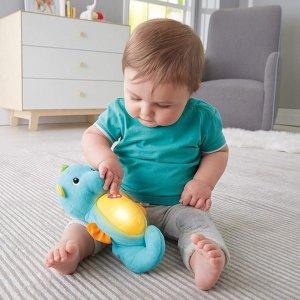 $11.9(原价$19.99)Fisher-Price 费雪声光蓝色毛绒抱抱海马玩具