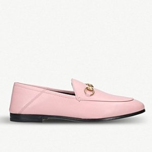 Gucci官网定价$730粉色乐福鞋