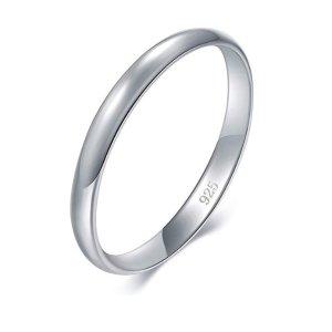 For $7.99 BORUO 925 Sterling Silver Ring @Amazon.com