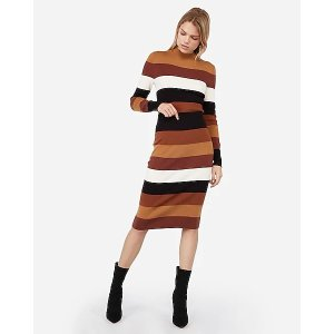ExpressNegin Mirsalehi High Waisted Striped Sweater Pencil Skirt