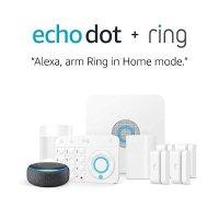 Ring Alarm 5件套 + Echo Dot 3代 家庭智能安防系统
