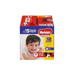 Huggies Snug & Dry Diapers Super Pack - Size 4 (112ct) : Target