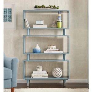 Simple LivingMargo Mid-Century 3-shelf Bookshelf