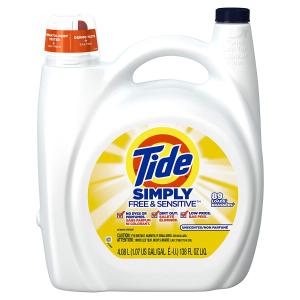 $8.54 (原价$11.99)Tide 汰渍 Simply 无香抗过敏洗衣液 4.08L