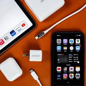 2根充电线€8.99 €18.99收无线充电Anker 手机配件闪促 收充电线、充电器、转接头、充电宝等