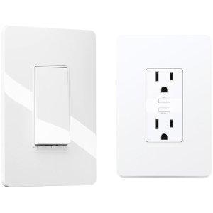 $49.99 (原价$74.95)TP-Link Kasa KP200 HS200 智能开关 + 墙插套装