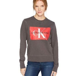 $27.58(原价$70)Calvin Klein女士logo卫衣特卖 舒适又好看