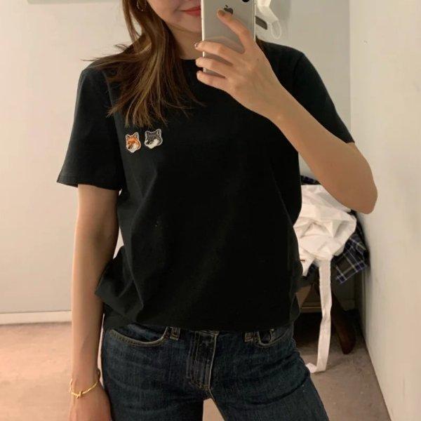 黑色小狐狸T恤