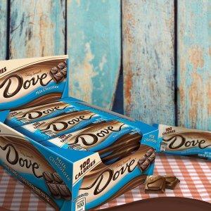 白菜价$7.92+免邮 一条只需$0.66DOVE 100卡路里 牛奶丝滑巧克力 0.65oz 18条