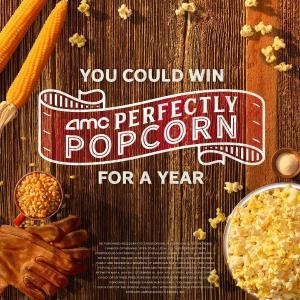 只需填写姓名和邮箱AMC 影院 试一试你赢得一年免费爆米花的运气