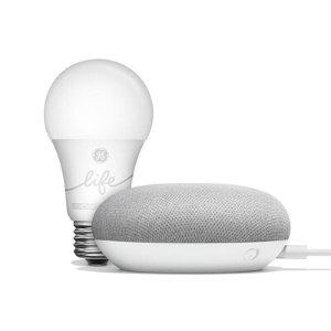 $20.00 (原价$55)Google 智能家居入门套装 (Home Mini + C-Life A19)