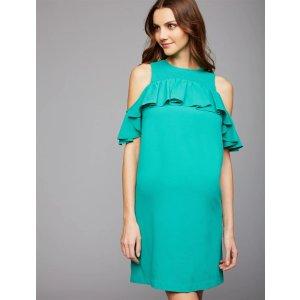 Motherhood MaternityExtra $50 Off on $100Cold Shoulder Flounce Maternity Dress
