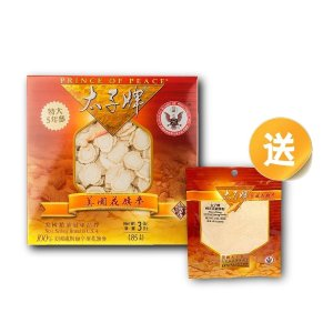 Prince of Peace Wisconsin American Ginseng 5 Year Root Slices, 3 oz (Free 1oz AG Powder)
