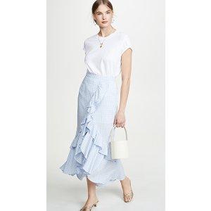 BB DakotaGo Gingham Tiger Skirt