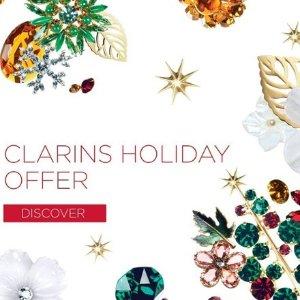 满£45赠11件豪华大礼包Clarins 全场美妆11.11闪促  圣诞超值套装上线