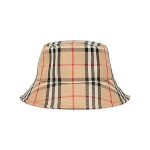 Burberry经典格纹渔夫帽