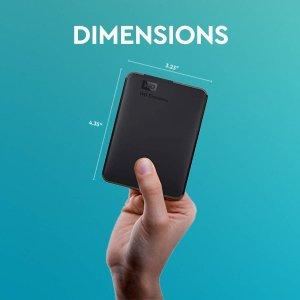 6.7折特价 €99.99包邮送到家WD Elements 5TB USB 3.0 移动硬盘