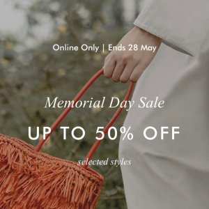 Up To 50% OffMemorial Day Sale @ Charles & Keith
