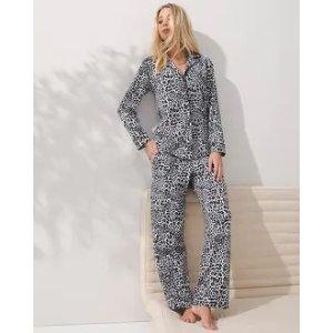 SomaEmbraceable Long Sleeve Notch Collar Pajama Top