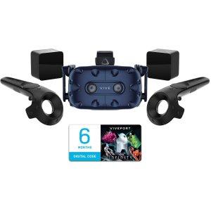 $799 (原价$1099)HTC VIVE Pro 新手包 + 6个月数字会员 VR终极套装