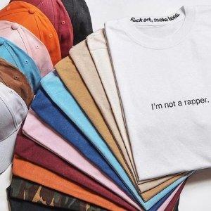 T恤一律$62 无门槛免邮Fxck Art, Make Tees明星同款T恤卫衣,收Baby最爱白色