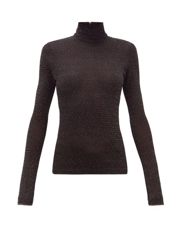 黑色针织衫
