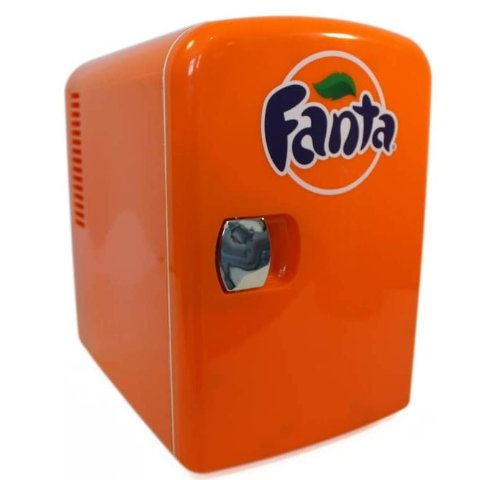 Coca-Cola FA04 Fanta 4 Liter/4.2 Quarts 6 Can Portable Mini Cooler