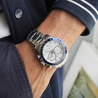 TISSOT T-Sport Silver Dial Chronograph Men's Watch