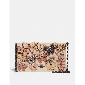 CoachCallie Foldover Chain Clutch With Butterfly Applique